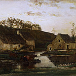 Charles-François Daubigny, French, 1817-1878 -- Mill, Philadelphia Museum of Art