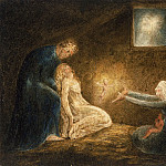 William Blake, English, 1757-1827 -- The Nativity, Philadelphia Museum of Art