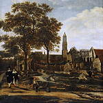 Daniel Vosmaer, Dutch , documented 1650 -- View of Delft after the Explosion of 1654, Philadelphia Museum of Art