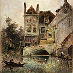 Philadelphia Museum of Art - Johan Barthold Jongkind, Dutch (active The Hague, Paris, and Rotterdam), 1819-1891 -- The Artist's House, Maassluis
