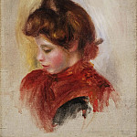 Philadelphia Museum of Art - Pierre-Auguste Renoir, French, 1841-1919 -- Girl in a Red Scarf