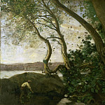 Edge of Lake Nemi, Jean-Baptiste-Camille Corot