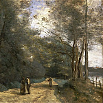 Philadelphia Museum of Art - Jean-Baptiste-Camille Corot, French, 1796-1875 -- Wooded Path near Ville d'Avray