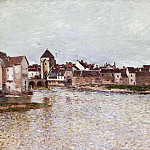 Alfred Sisley, French, 1839-1899 -- Bridge at Moret-sur-Loing, Philadelphia Museum of Art