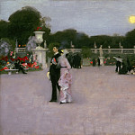 John Singer Sargent, American , 1856-1925 -- In the Luxembourg Gardens, Philadelphia Museum of Art