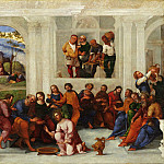 Philadelphia Museum of Art - Lodovico Mazzolino, Italian (active Ferrara), first documented 1504, died 1528-30 -- Christ Washing the Feet of the Disciples