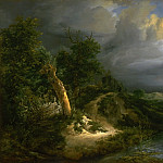 Philadelphia Museum of Art - Jacob Isaacksz. van Ruisdael, Dutch (active Haarlem and Amsterdam), 1628/29-1682 -- Storm on the Dunes