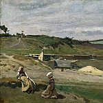 Philadelphia Museum of Art - Jean-Baptiste-Camille Corot, French, 1796-1875 -- Wall, Côtes-du-Nord, Brittany