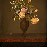 Martin Johnson Heade, American, 1819-1904 -- Still Life with Flowers, Philadelphia Museum of Art