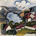 Roger de La Fresnaye, French, 1885-1925 -- Landscape, Philadelphia Museum of Art