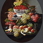 Severin Roesen, American , c. 1815-c. 1872 -- Still Life with Fruit, Philadelphia Museum of Art