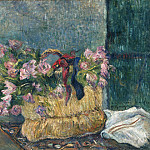 Paul Gauguin, French, 1848-1903 -- Still Life with Moss Roses in a Basket, Philadelphia Museum of Art