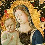 Domenico di Bartolo , Italian , first documented 1420, last documented 1444-45 -- Virgin and Child, Philadelphia Museum of Art