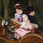 Mary Stevenson Cassatt, American, 1844-1926 -- A Woman and a Girl Driving, Philadelphia Museum of Art