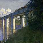 Railroad Bridge, Argenteuil, Claude Oscar Monet