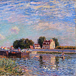 Alfred Sisley, French, 1839-1899 -- The Canal at Saint-Mammes, Philadelphia Museum of Art
