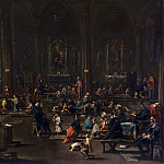 Alessandro Magnasco, also called Lissandro and Lissandrino, Italian c. 1667-1749 -- The Catechism in the Cathedral of Milan, Philadelphia Museum of Art