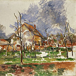 Paul Cézanne, French, 1839-1906 -- Winter Landscape near Paris, Philadelphia Museum of Art
