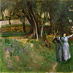 John Singer Sargent, American , 1856-1925 -- Landscape with Women in Foreground, Philadelphia Museum of Art