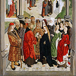 Master of the Tiburtine Sibyl, Netherlandish , active c. 1475-c. 1495 -- The Marriage of the Virgin, Philadelphia Museum of Art