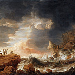 Bonaventura Peeters, Flemish , 1614-1652 -- Shipwreck on a Rocky Coast, Philadelphia Museum of Art