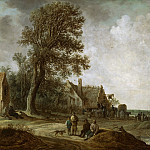 Philadelphia Museum of Art - Jan van Goyen, Dutch (active Leiden and The Hague), 1596-1656 -- Peasants Resting before an Inn