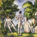 Paul Cézanne, French, 1839-1906 -- Group of Bathers, Philadelphia Museum of Art