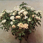 Philadelphia Museum of Art - Ignace-Henri-Jean-Théodore Fantin-Latour, French, 1836-1904 -- Still Life with White Roses