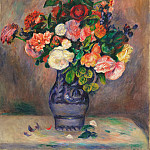 Pierre-Auguste Renoir, French, 1841-1919 -- Flowers in a Vase, Philadelphia Museum of Art