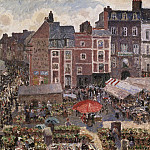 Camille Pissarro, French, 1830-1903 -- Fair on a Sunny Afternoon, Dieppe, Philadelphia Museum of Art