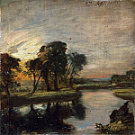 John Constable, English, 1776-1837 -- The Stour, Philadelphia Museum of Art