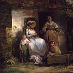 Philadelphia Museum of Art - George Morland, English, 1763-1804 -- The Happy Cottagers (The Cottage Door)