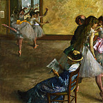 Hilaire-Germain-Edgar Degas, French, 1834-1917 -- The Ballet Class, Philadelphia Museum of Art