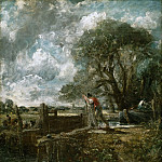 Philadelphia Museum of Art - John Constable, English, 1776-1837 -- A Boat Passing a Lock (Sketch)