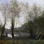 Jean-Baptiste-Camille Corot, French, 1796-1875 -- Morning on the Estuary, Ville d'Avray, Philadelphia Museum of Art