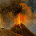 Achille Etna Michallon -- Eruption of Vesuvius, night, Part 3 Louvre