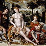 Jan Massys -- David and Bathsheba, Part 3 Louvre