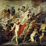 Part 3 Louvre - Peter Paul Rubens -- The Concert (or Council) of the Gods for the Reciprocal Marriages of France and Spain, also called The Government of the Queen