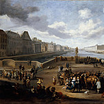 Hendrik Mommers -- The Louvre viewed from the Pont-Neuf, Part 3 Louvre
