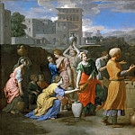 Nicolas Poussin -- Eleazer and Rebecca at the Well, Part 3 Louvre