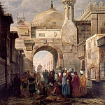 Part 3 Louvre - Adrien Dauzats -- The al-Azhar Mosque, Cairo