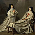 Philippe de Champaigne -- Mother Catherine-Agnès Arnauld and Sister Catherine de Sainte Suzanne de Champaigne, the artist's daughter, Part 3 Louvre