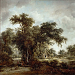 Meindert Hobbema -- The Farmhouse, Part 3 Louvre