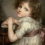 Part 3 Louvre - Anna Geneviève Greuze; formerly attributed to Jean-Baptiste Greuze -- Child with a Doll