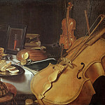 Pieter Claesz. -- Still Life with Musical Instruments, Part 3 Louvre