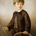 Victor Louis Mottez -- Henri Mottez as a child , son of the artist, Part 3 Louvre