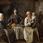 Part 3 Louvre - Antoine Le Nain (c. 1588-1648), Louis Le Nain (c. 1593-1648) or Mathieu Le Nain (1607-1677) -- Peasant Family, or the Return from the Baptism