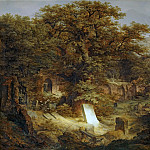 Govaert Flinck -- Landscape with Tombstone and Ruins, Part 3 Louvre