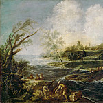 Part 3 Louvre - Alessandro Magnasco -- Landscape with Two Figures