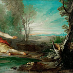 François Lemoyne -- Narcissus Contemplating His Image Mirrored in the Water, Part 3 Louvre